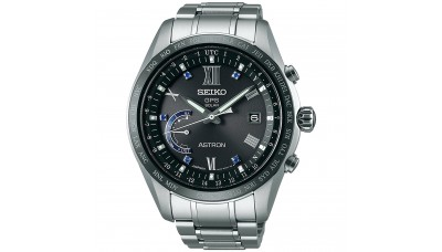 Seiko Astron SSE117J1 (SBXB117) 8X World-Time Titanium with Blue Sapphire Limited Edition 2,500