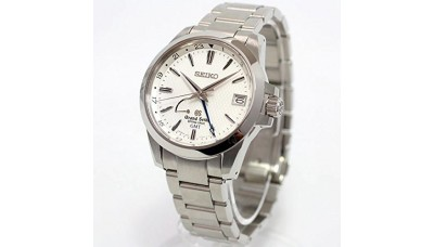 Grand Seiko SBGE009 9R Spring Drive GMT Stainless Steel